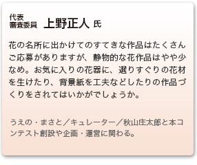 審査委員 上野正人 氏