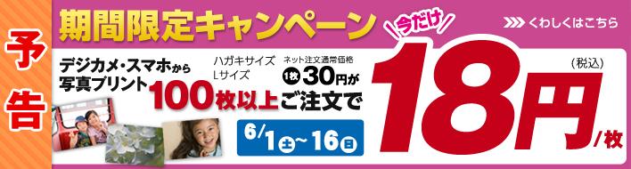 期間限定100以上ご注文で18円/枚