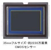 35mmフルサイズ・約2230万画素CMOSセンサー